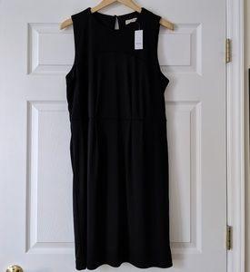Loft drape back black dress